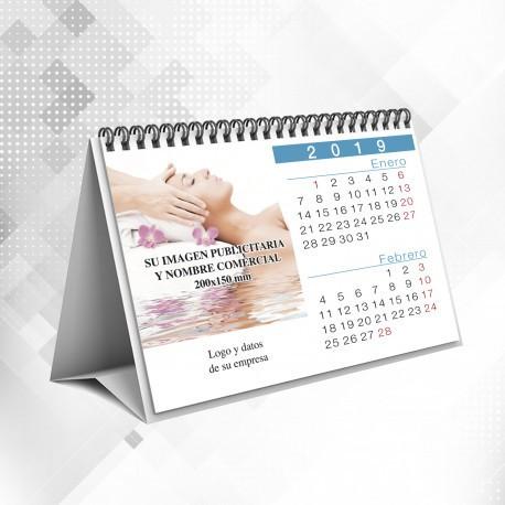 Calendarios de Sobremesa Bimensual 20x15 cms Horizontal con Wireo