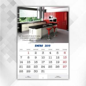 Calendarios Pared con Grapas Mensual